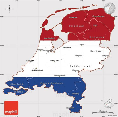 flag simple map  netherlands flag centered