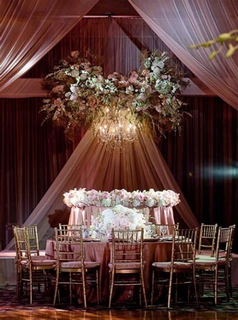 rose gold wedding party decor theme dusty room decorations table pink reception dress weddings living inspire themes dresses fine let