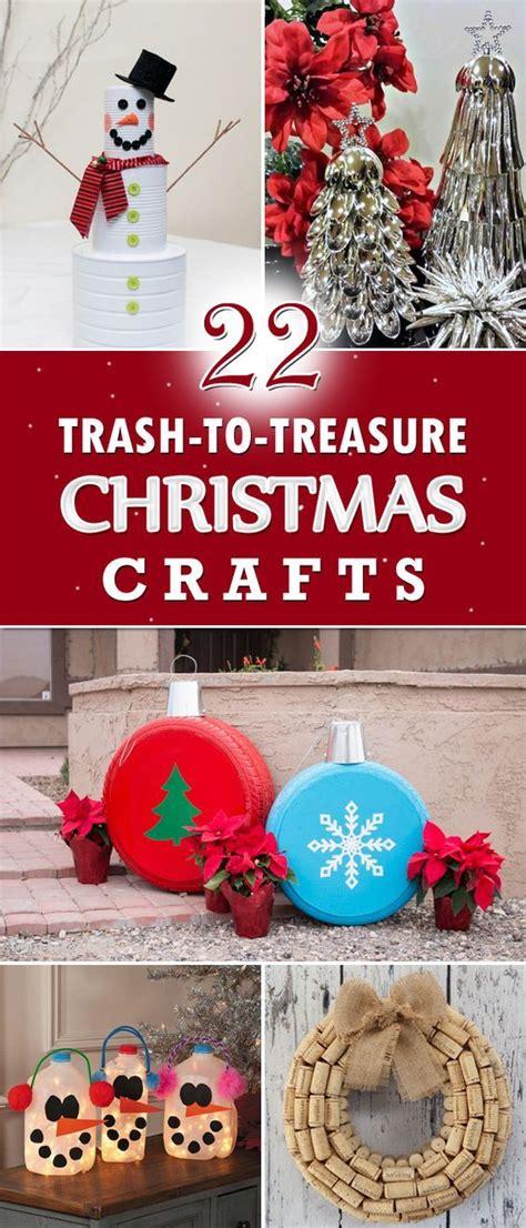amazing trash  treasure christmas crafts diy