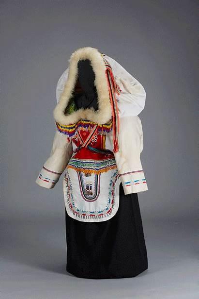 Inuit Clothing Amauti Arctic Parka Exhibit Traditional