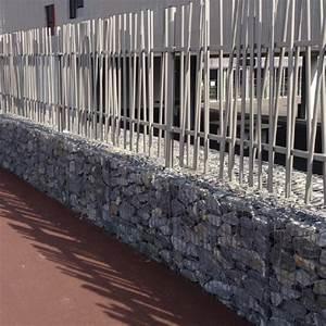 Mur En Gabion : murs gabions avec cl tures associ es ~ Premium-room.com Idées de Décoration