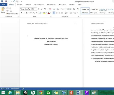 title page template word 2013 apa cover page 2013 formatting apa style in microsoft word