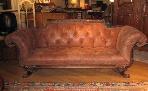 duncan phyfe sofa tufted high quality leather tufted and