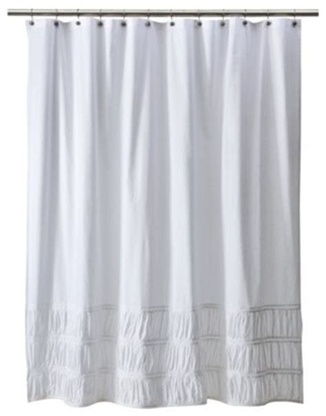 ruched shower curtain traditional shower curtains by