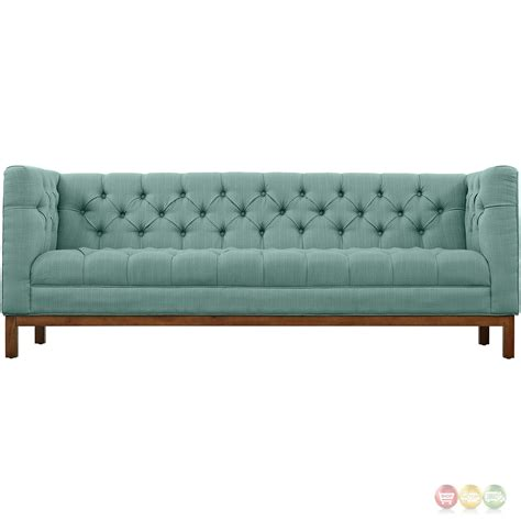 gray tufted panache vintage square button tufted upholstered sofa laguna