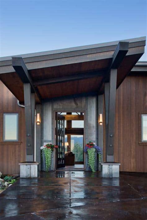 red lodge montana modern timber home precisioncraft