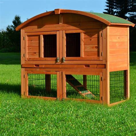 stall für kaninchen zooprimus kleintier stall nr 56 kaninchen k 228 fig runddach meerschweinchen villa f 252 r au 223 enbereich
