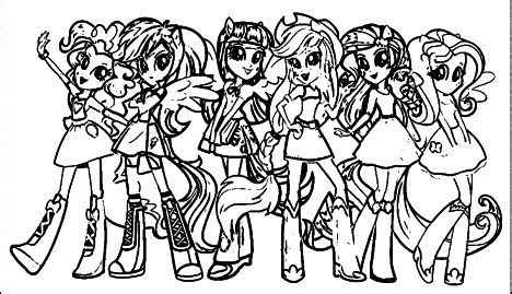 pony equestria girls coloring pages twilight