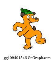 dancing dog stock illustrations royalty  gograph