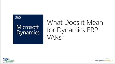 Microsoft Dynamics 365 What Does It Mean For Dynamics Erp