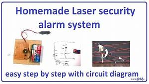 How To Make Laser Security Alarm System Easy At Home