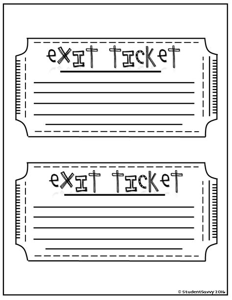 Exit Ticket Template Exit Tickets Free Printables Exit Tickets