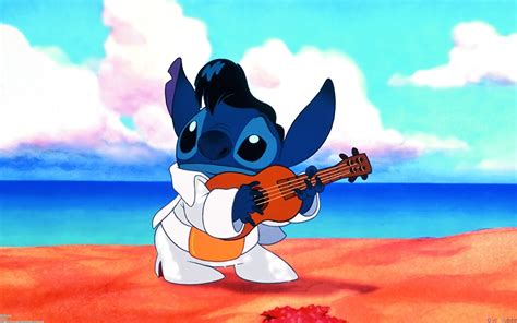 fondos de pantalla disney lilo stitch guitarra animacion