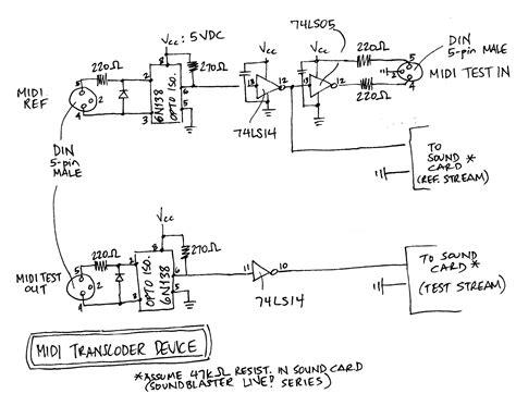 Midi Transcoder Schematics