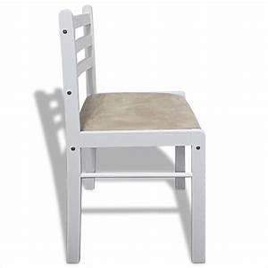2x holz esszimmerstuhl kuchenstuhl viereckig weiss gunstig for Küchenstuhl weiß holz