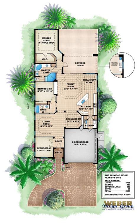 house planshome plans   narrow beach house plans