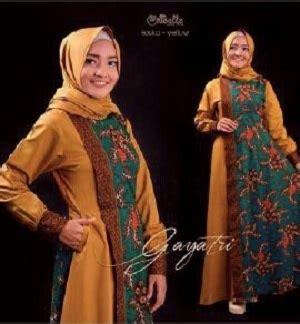 model baju setelan long dress muslim gamis batik modern