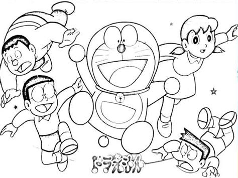 Gambar mewarnai nobita dan doraemon gambar mewarnai lucu mubawa via mubawa.com. Contoh Gambar Mewarnai Doraemon Dan Kawan Kawan - KataUcap