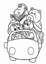 Coloring Toy Story Gang Pages Riding Disney Woddy Grocery Colornimbus Books Template Sheets Printable Coloriage Printables Templates sketch template