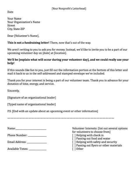 sample letter   volunteers planner template