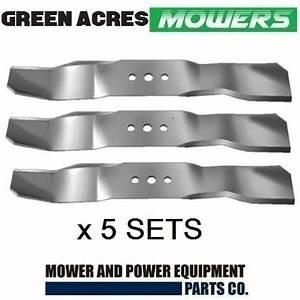 5 X Mulching Blades Set For 44 Inch For Husqvarna Rider