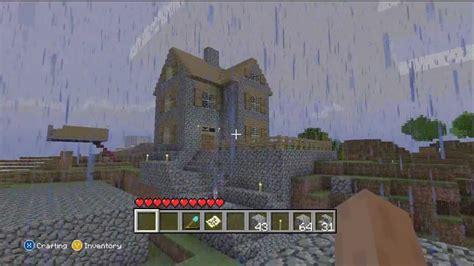 minecraft xbox  edition cobblestone house youtube