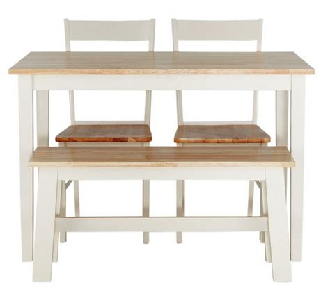 Kitchen Furniture Argos by Buy Collection Chicago Solid Wood Table Bench 2 Chairs