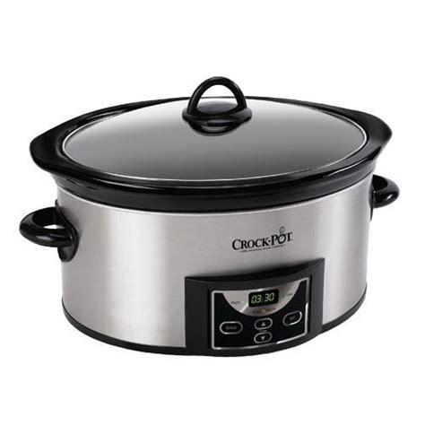 crock pot sccpvc609 s pal 6 quart countdown cooker for 7 or more removable