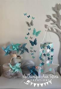 decoration chambre bebe turquoise caraibe bleu petrole With déco chambre bébé pas cher avec gouttes bach