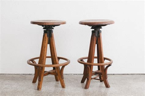 vintage wooden bar stools maintain attachment to your past with antique bar 6884