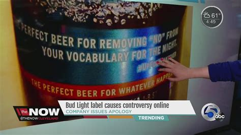 bud light slogan bud light sorry for slogan saying removes no from