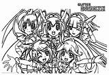 Glitter Force Coloring Pages Precure Five Printable Adults sketch template