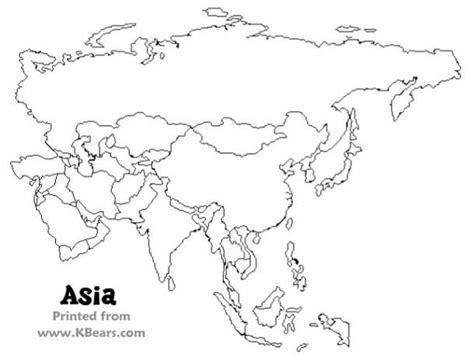 blank map  asia worksheet    gambar