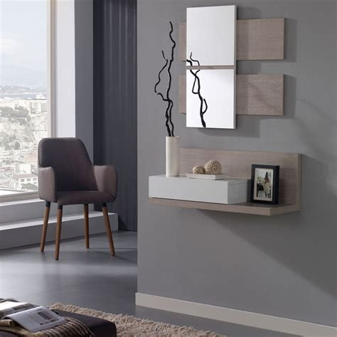 meuble pour une entree meuble d entr 233 e blanc ch 234 ne clair miroir lisia petits meubles