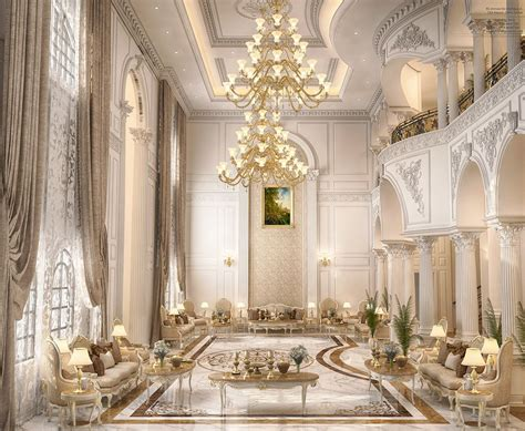 main hall design   private villa  doha qatar