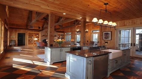 Rustic Open Floor Plan Cabins Single Story Open Floor ...
