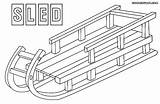 Toboggan Template Sled Coloring Pages Templates sketch template