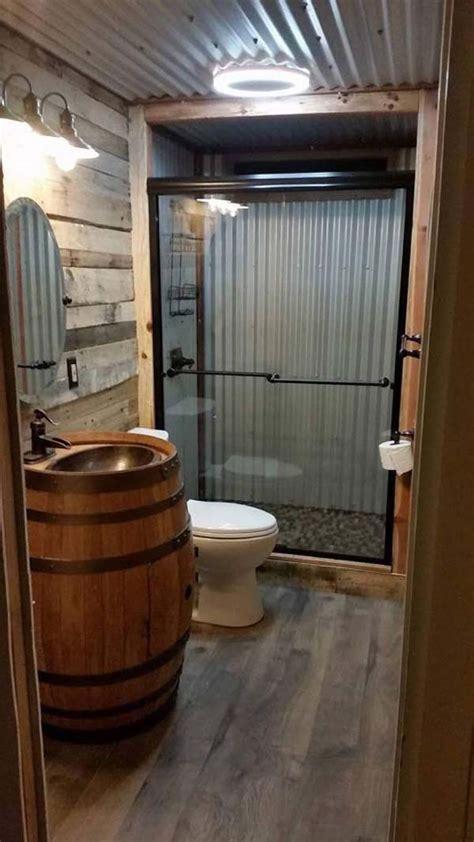 awesome ideas  add rustic style  bathroom amazing