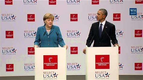 ticker obama in hannover obama obama german chancellor merkel at hannover messe trade