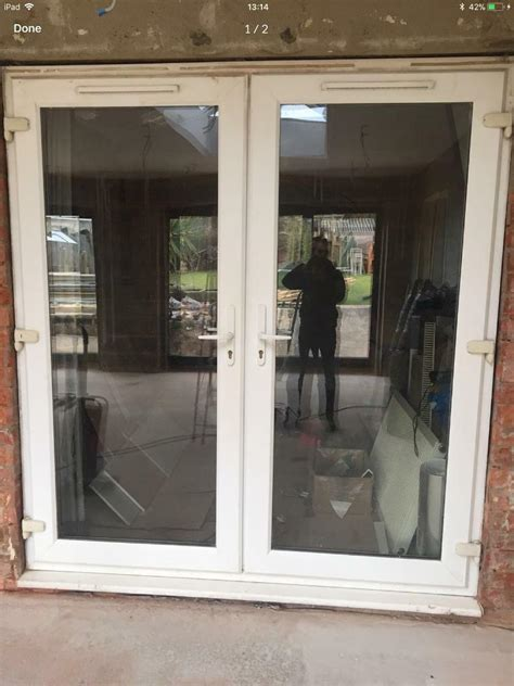 upvc patio french doors white double glazed  vents  wide   high  gloucester