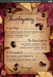 Free Flyer Maker Printable Thanksgiving Menu Template V3 By Lou606 Graphicriver