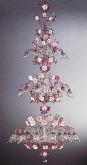 large pink chandelier large pink and white murano chandelier this