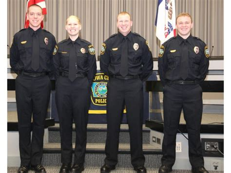 iowa city police department welcomes   officers