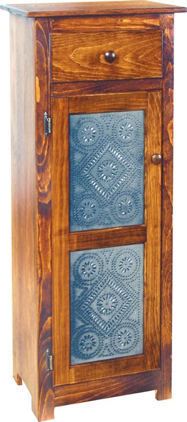 pine jelly cabinet  tin doors  dutchcrafters amish