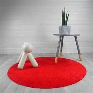 tapis rond lavable en machine rouge ideal pour salle de With tapis rond pour salle de bain