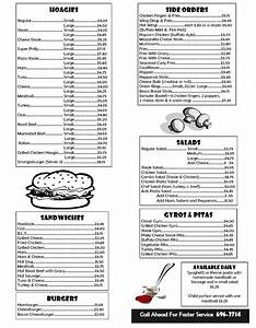 box lunch menu template print templates takeout menus With free take out menu templates