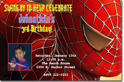 Spiderman Birthday Invitations Super Hero