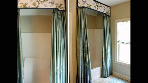 Bathroom-decoration-ideas-using-shower-curtain-valance- Curtain Pelmets Diy Extra Length Curtains Uk Striped Panels 96 Curved Rods Small Bedroom Or Blinds Tab Top 63 Long Screen Porch Princess Bunk Bed