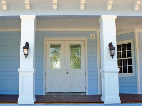 How To Replace Front Porch Columns by How To Install A Porch Railing Hgtv