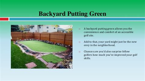putting green size improve your golf game with a backyard putting green